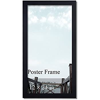 amazon com arttoframes 12x24 inch black stain on pine wood picture