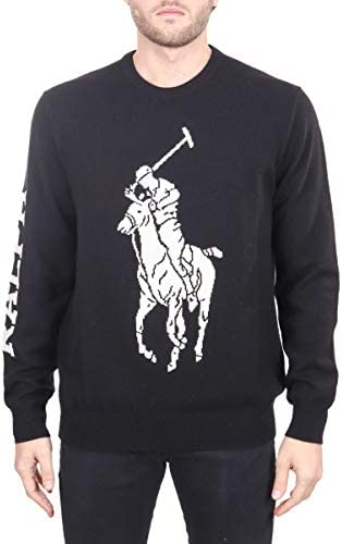 Polo Ralph Lauren Camiseta Negra, Bordado Maxi Logo ...