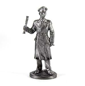The Third Reich. Gross Admiral Karl Doenitz Kriegsmarine metal sculpture. Collection 54mm (scale 1/32) miniature figurine. Tin toy soldiers