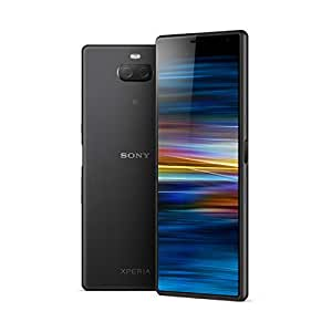 """Sony Xperia 10 Plus - Smartphone de 6,5"""" Full HD+ 21:9 CinemaWide (Octa-Core de 1,8 Ghz, 4 GB de RAM, 64 GB de ROM, cámara dual de 12+8 MP, Android P, Dual Sim), Color Negro [Versión española]"""