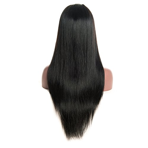Coco's Hair 360 Lace Frontal Straight Human Hair Wigs Glueless 150% Density Brazilian Virgin Remy Wigs with Baby Hair Narutal Color 18 inch by Coco's Hair (Image #2)