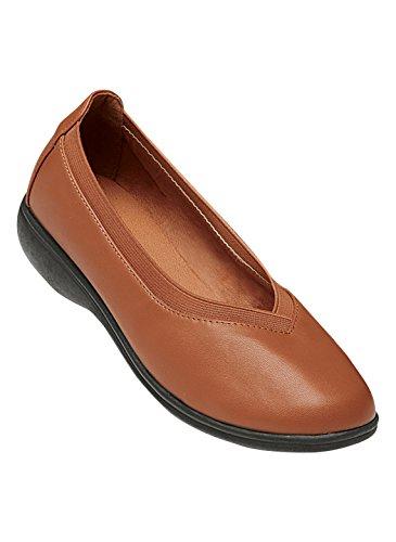 Comfort Well Wedge Flats, Cognac, Size 7 (Wide)