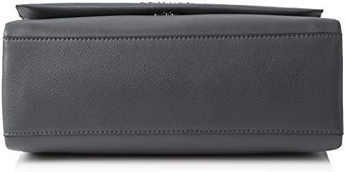 Calvin Klein Jeans - Frame Top Handle Satchel, Carteras de mano con asa Mujer, Gris (Steel Greystone), 11x24x30 cm (B x H T) vNDyCzOu