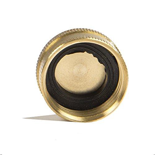 Aqua Plumb Brass Hose End Cap (10 Pack)