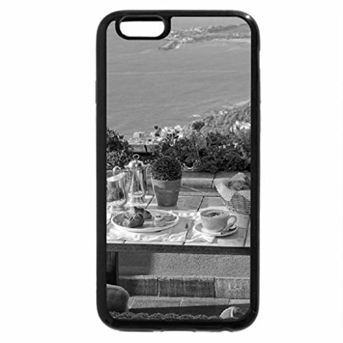 iPhone 6S Case, iPhone 6 Case (Black & White) - tea time with view