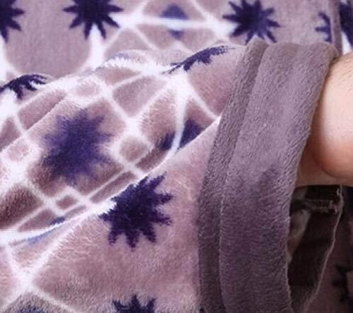 Brown Dos Servicio Otoño Franela Los Solapa Domicilio A Largo Moda Invierno Dormir Caliente Pijamas Ropa Loungewear Inicio Hombres De Del Hombre Para 1xaW6q