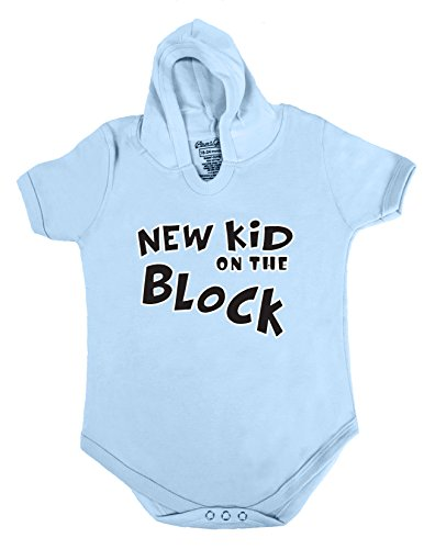Price comparison product image 72 HOODIE BABY ROMPER SHORT SLEEVE ONESIE UNISEX FUNNY NEW KID GIFT POLY BAGGED A&G BRAND (0-6 Months