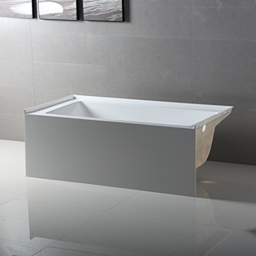 Merveilleux Fine Fixtures Acrylic/Fiberglass Soaking Bathtub, Exclusive Small Size 54u0027u0027 X  30