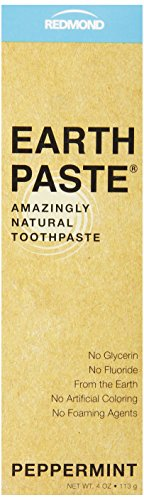 Redmond Earthpaste Natural Non-Flouride Toothpaste, Peppermint, 4 Ounce
