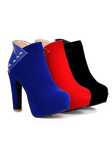 Vellón Robusto uk8 Vestido Punta royal cn43 Cuero red Redonda 5 Negro Azul Zapatos de XZZ uk8 5 Tacón Rojo Botines Botas us10 5 mujer eu42 us10 cn34 eu42 eu35 uk3 us5 5 Marino red Patentado blue xYqvI1