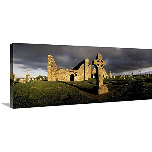 GREATBIGCANVAS Gallery-Wrapped Canvas Entitled Cross of The Scriptures at Clonmacnoise Monastery, Co Offaly, Ireland by The Irish Image Collection 30