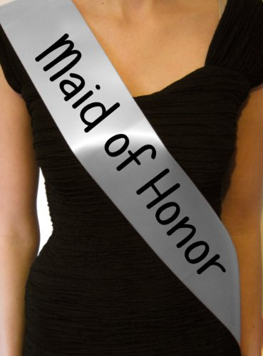 Silver Bachelorette Hen Party Girls Night Out Maid of Honor Sash