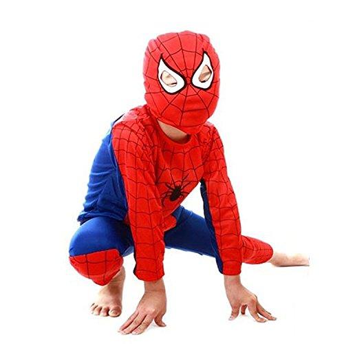 Kids Spiderman Costume Child Superhero Cosplay Elastic Jumpsuit Amazing Spandex Zentai Suit Halloween Boys Costumes -