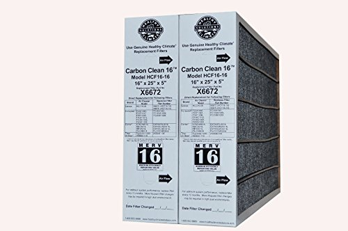 Genuine Lennox Healthy Climate 16 x 25 x 5 Part # X6672 MERV 16 Model HCF 16-16 Case of 2 by Lennox