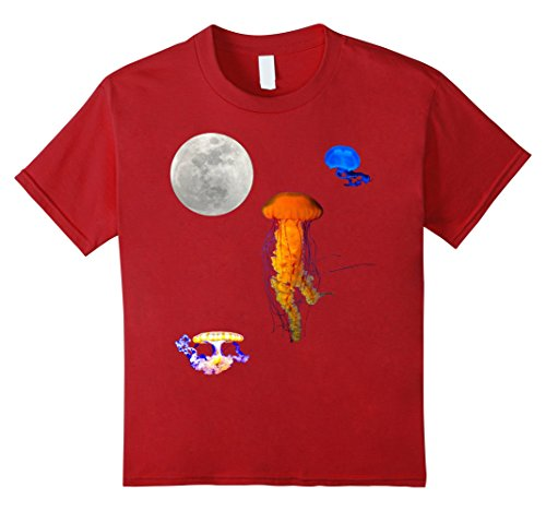 Kids Jellyfish Shirt Vintage 90s Themed Cool T Shirt. 10 Cranberry (90s Themed Clothes)