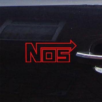 NOS small vinyl car Decal Sticker