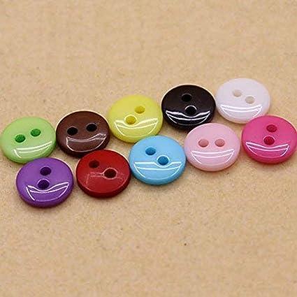 cosanter 100/unidades bot/ón Varios Color Pomo peque/ño para costura artesan/ía Scrapbooking y DIY Artesan/ía 4 L?cher 13 mm