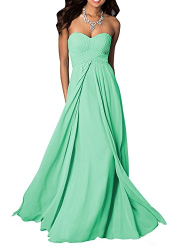 Ruby Groo Slim Women's Chiffon Long Sweetheart Evening Gown Party Dresses Mintgreen US 20 (How To Dress As A Pirate)