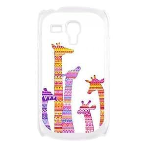 Colorful Aztec Tribal Giraffe Protective Hard PC Back Fits Cover Case for Samsung Galaxy S3 SIII Mini i8190 WANGJING JINDA