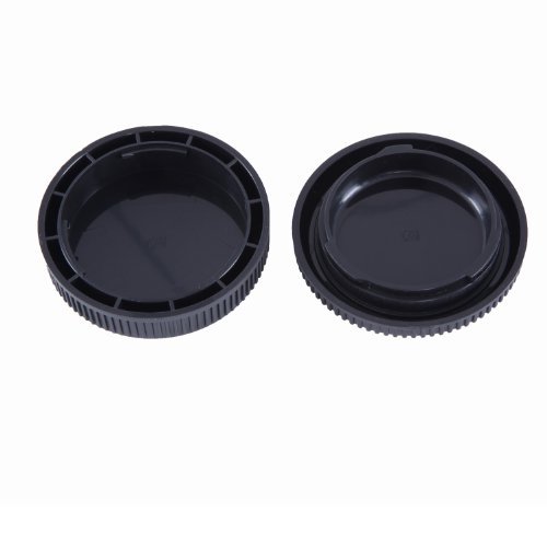Movo Photo Lens Mount Cap and Body Cap for Olympus EVOLT Four Thirds DSLR Camera