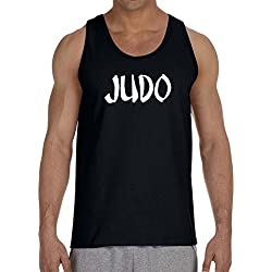 Men's Graffiti Judo V439 Black Tank Top Large Black