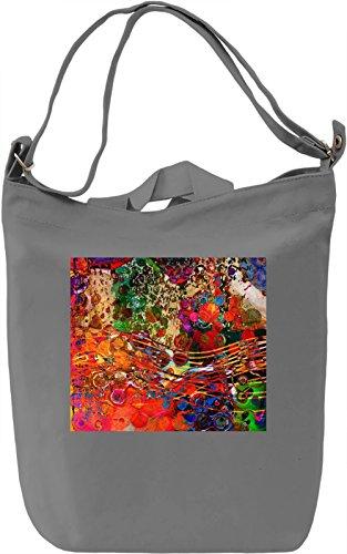 Watercolor Painting Texture Borsa Giornaliera Canvas Canvas Day Bag  100% Premium Cotton Canvas  DTG Printing 