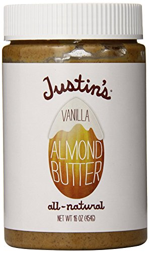 Oz Almonds Jar 16 (Justin's Vanilla Almond Butter, 16 Ounce (Pack of 2))