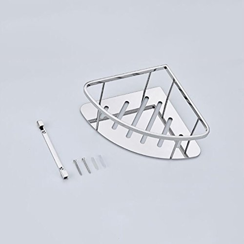 FeN Wall Mount Storage Shelf,Bathroom Triangular Rack,Hotel Storage Basket,Kitchen Spice Shelves,for Office Torage Organizer Holder by FeN (Image #3)