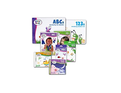 Brainy Baby Preschool Learning ABCs, 123s Board Books,