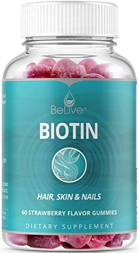 Biotin Gummies for Hair Growth - Max Strength 10,000mcg for Women & Men | Hair, Skin, Nail Gummy Vitamins Supplements | All-Natural, Vegan, Pectin-Based 60 Count