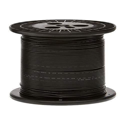 "Remington Industries 16UL1007STRBLA1000 16 AWG Gauge Stranded Hook Up Wire, 1000 feet Length, Black, 0.0508"" Diameter, UL1007, 300 Volts"