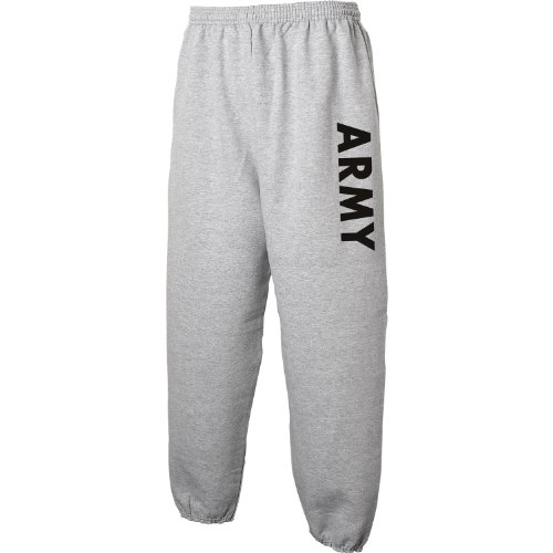 (ARMY Sweat Pants - Military Style Physical Training Sweat Pants in Gray - Large )