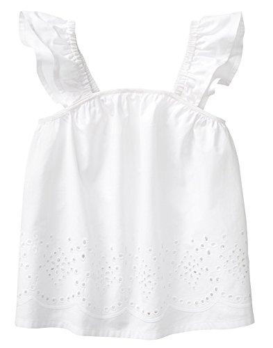 Crazy 8 Girls' Toddler Woven Tank Top, White Eyelet, 18-24 (White 20 Eyelet)