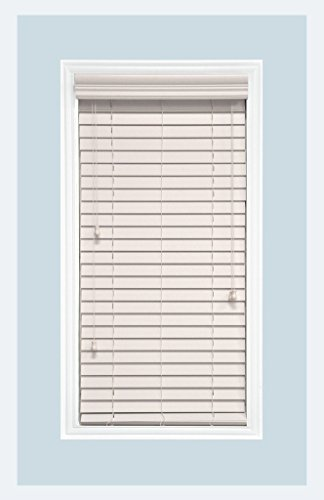 Delta Blinds Supply Custom-Made, Faux Wood Horizontal Window Blinds, 2 Inch Slats, Snow White, Inside Mount by Delta Blinds Supply (Image #7)