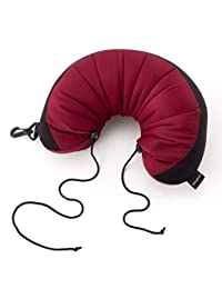 Samsonite Microbead Neck Pillow - 3 in 1, Wineberry, International Carry-on (Model: 53599-1920)