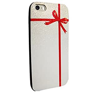 ZL Flash Powder TPU Bow Back Case for iPhone 5/5S