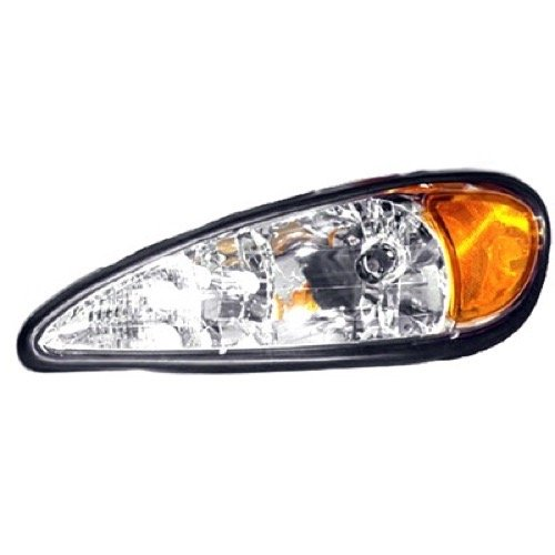 OE Replacement for 1999 - 2005 Pontiac Grand Am Front Headlight Assembly Housing / Lens / Cover - Left (Driver) Side 22672207 GM2502196 Replacement For Pontiac Grand Am
