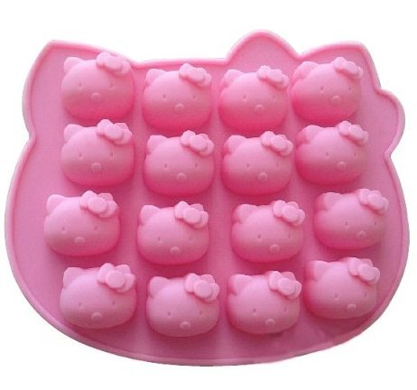 Allforhome 16 Cavity Hello kitty Biscuit Cake Pan Silicone Cake