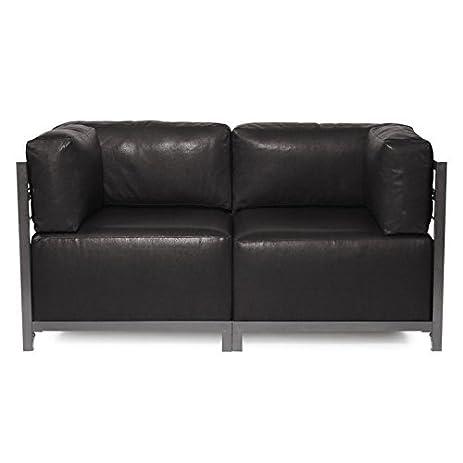Howard Elliott K922T 194 Axis Sectional Sofa With Titanium Frame, Avanti  Black, 2