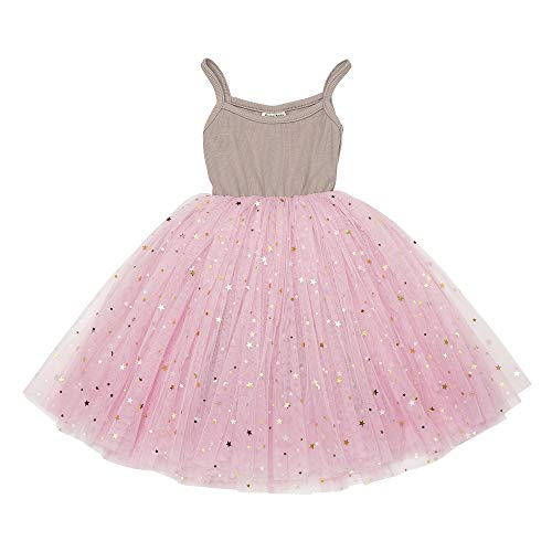 (Toddler Girls Dresses Tutu Party Sequins Stars Prints Tulle Princess Style 6m to 4t (9-12m, Pink1))