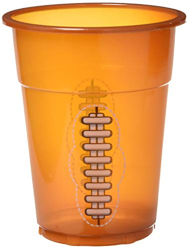 Football Disposable Cups - Sports & Game Day by Oriental Trading Company, Pack of 50, 16 ounce Cup