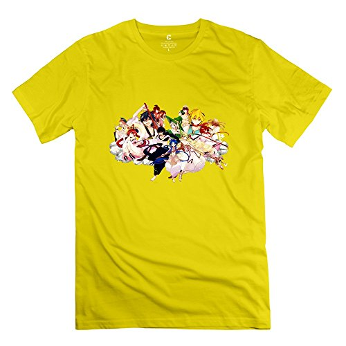 Nozone Magi: The Labyrinth Of Magic T-shirt For Men - S Yellow Religion 100% Cotton Yellow Shirt For Mens