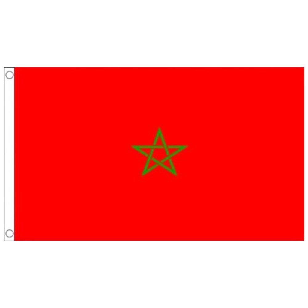 DDG EDMMS Drapeau De 1 Pi/èces 90 150CM Drapeau Suspendu Grand Drapeau Drapeau sur M/ât pour pour Ev/énement Activit/és Drapeau Maroc