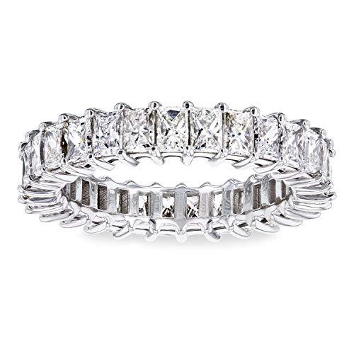 Princess Baguette Diamond Eternity Band 2 7/8 CTW 18k White Gold - Size 5.25 (Princess And Baguette Cut Diamond Eternity Ring)