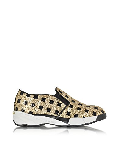 PINKO FEMME 1H208DY2L1ZZLGOLD OR SEQUINS CHAUSSURES DE SKATE