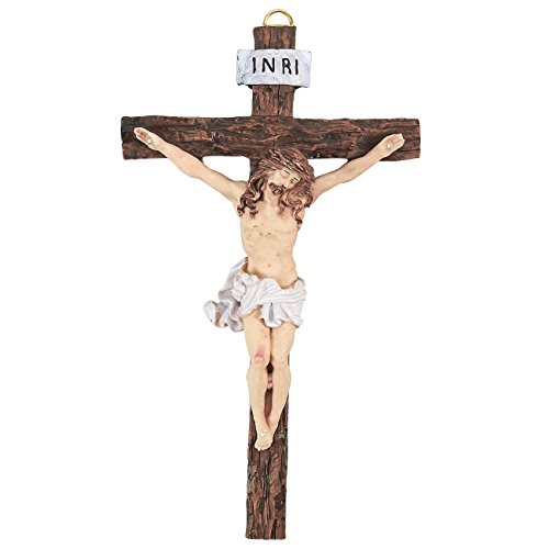 Crucifix Jesus Christ (Juvale Crucifix Wall Cross - Jesus Cross Catholic Cross Crucifix Wall Decor- Christ Cross Jesus Resin Jesus Wall Hanging Decor- 5.5 x 9.5 x 1.5 Inches)