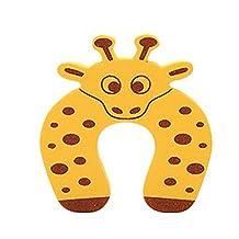 Set of 18 Cartoon Baby Infant Safety Door Doorstop Prevent Nipping Hand(Giraffe)