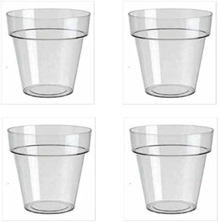 Prestige Plastique Pot-Transparent