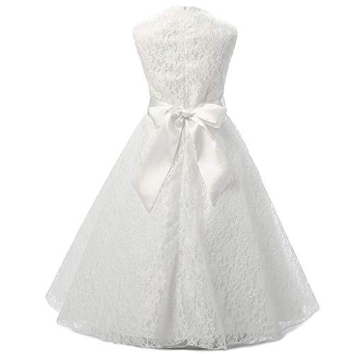 Xmiral Vestido de Encaje Floral para Boda Fiesta para Niñas Chicas ...