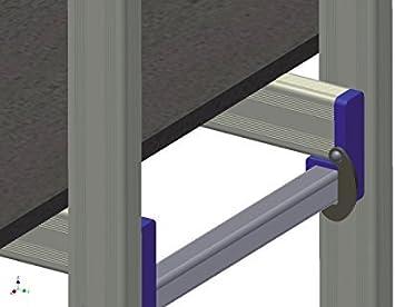 FACAL Penny Aluminio s Andamio m/óvil, Aluminio, 150 kg, Aluminio, Azul, 2 rueda , 9 cm Andamio